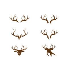 Deer antler illustration logo vector