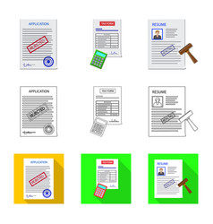 Design of form and document icon vector