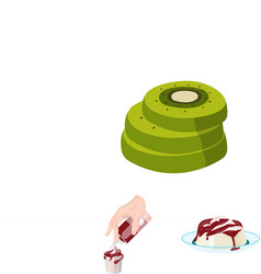 Dessert fragrant cartoon icons in set collection vector