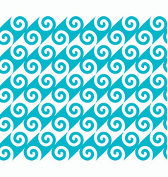 diagonal blue spiral wave pattern vector image