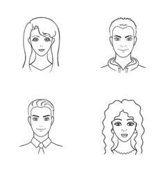 Different looks of young peopleavatar and face vector
