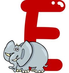 E for elephant vector image