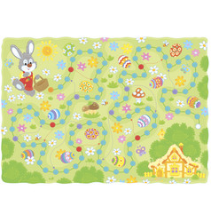 easter egg hunt printable game vector image
