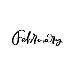 February freehand ink inspirational romantic vector