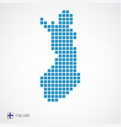 finland map and flag icon vector image