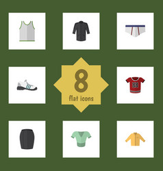 Flat clothes set of underclothes uniform stylish vector