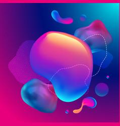 fluid design graphic elements dynamic background vector image
