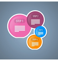 Four Tutorial Steps Infographics Web Layout vector