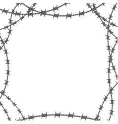 frame barbed vector image
