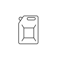 gasoline canister icon vector image
