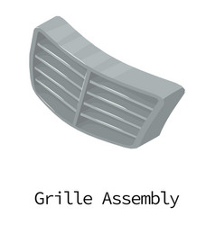 Grille car icon isometric 3d style vector