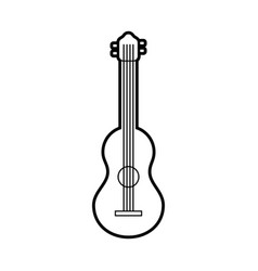 guitar classical instrument music acoustic vector image