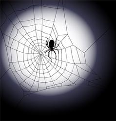 halloween background - spiders web vector image