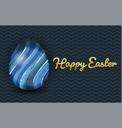 Happy easter banner with colorful egg vector