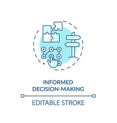 informed decision making turquoise concept icon vector image