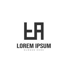 Initial letter logo design minimalist letter logo vector