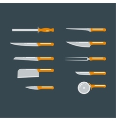 Kitchen knife flat vector image