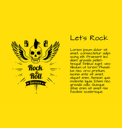 let s rock and rock and roll forever poster vector image