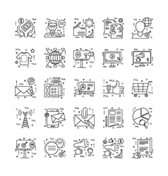 Line Icons With Detail 7 vector image