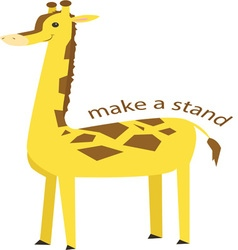 Make A Stand vector