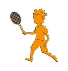 male tennis player athlete sport avatar icon image vector image