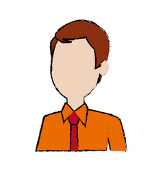 man young character people cartoon vector image
