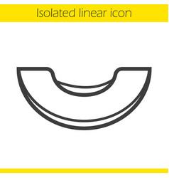 Melon linear icon vector