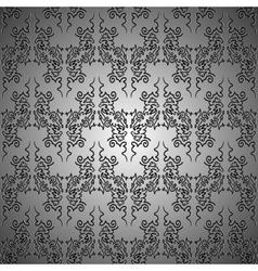 Metallic curls seamless pattern vector image vector image
