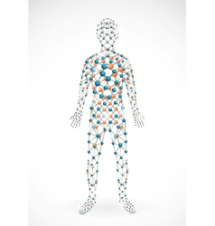 Molecular man vector
