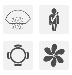 monochrome icon set with symbols vector image