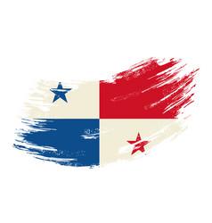 panamian flag grunge brush background vector image