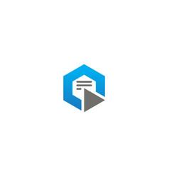 polygon data technology logo vector image