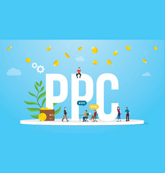 ppc pay per click concept advertising business vector image