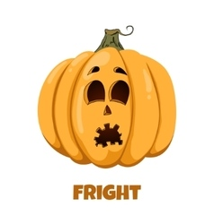Pumpkin for Halloween Emotions Fright vector image vector image
