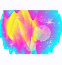 Rainbow background with vibrant gradients vector