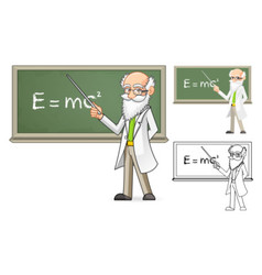 Scientist Holding a Pointer Stick vector image