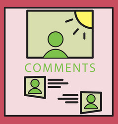 Self photo concept comments on the photo posting vector