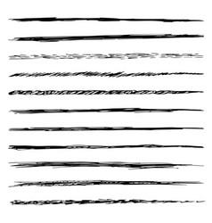 Set of brushes isolated on white background vector