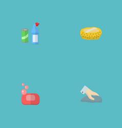 set of hygiene icons flat style symbols with wisp vector image