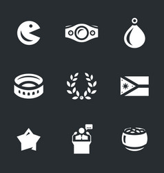 Set of philippines icons vector