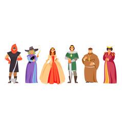 Set of royal characters vector