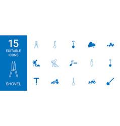 shovel icons vector image