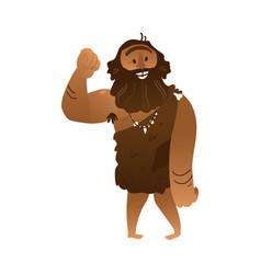 Sketch caveman naked in loincloth walking vector