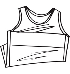sketch of t-shirt sleeveless vector image