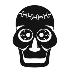 Skull icon simple style vector