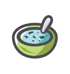 soup plate food icon cartoon vector image