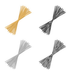 Spaghetti pasta icon in cartoon style isolated on vector