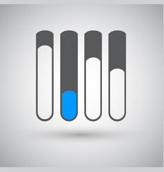 statusbars flat design vector image
