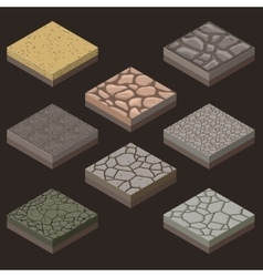 Stone tiles kit vector