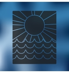 summer icon on blurred background vector image